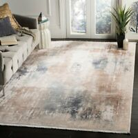 Safavieh Eclipse Vintage Abstract Beige / Blue Viscose Rug - 9' X 12'