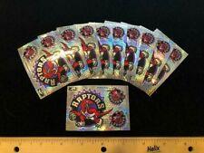 10 count Toronto Raptors Throwback Prismatic NEW Sticker Sheet - 2.25x3.25