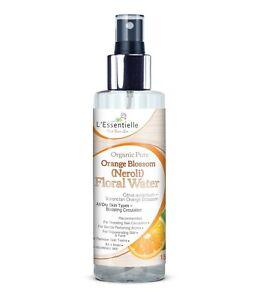 Organic 100% Orange Blossom Neroli Floral Water 150ml Dry Skin FaceToner