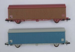 ART'N 2 WAGONS SNCF BACHES TRANSPORT PALETTES  ECHELLE N REFERENCE 8830   8840