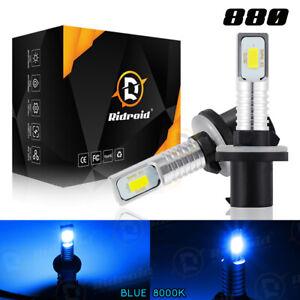 2x 8000K Ice Blue High Power 880 881 893 899 LED Fog Light Driving Bulbs DRL