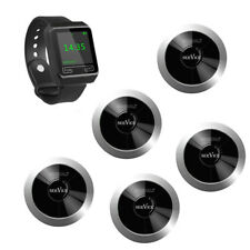 Singcall Wireless Restaurant Calling Waiter System 1 Watch 5 Pagers for Hotel