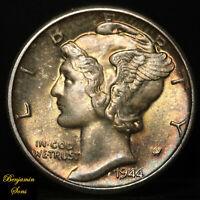 Unique 1944 D Mercury Silver Dime, Circulated 072720-03B Free Shipping!