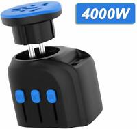 4000W European High Power Universal Travel Adapter with 2 USB Ports+AC outlet