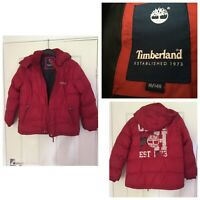 TIMBERLAND JUNIOR WINTER RED Bubble Puffa Jacket Age 10 Years Size 10/140 (A394)