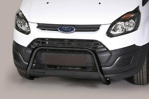 Frontbügel aus Edelstahl für Ford Transit Custom 2012-18 ø 63mm ABE Schwarzmatt