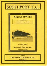 B16 Southport v Tranmere Rovers 23/07/97 Friendly