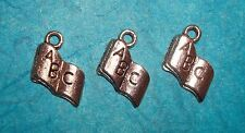 Pendant Book Charms Lot of 3 Teacher Charm Reading Charm Magazine Charm Library