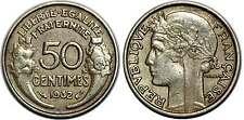 50 CENTIMES MORLON  1932  9 OUVERT SANS RAISIN  F192.8