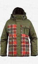 Burton Boys Sludge Snowboard Jacket (L) Keef Revolt Plaid