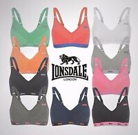 Ladies Lonsdale Adjustable Straps Clasp Fastening Sports Bra Sizes from 28 to 38