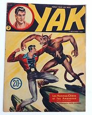 YAK n°2. Aventures Voyages 5 novembre 1949. CEZARD. Superbe état