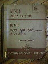 Vintage Original IH International Harvester MT-80 Parts Catalog LF-170, Loadstar