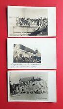 3 x Militär Foto AK Frankreich 1. WK Unterstände Soldaten Kirche   ( 38889