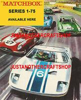 Matchbox Series 1-75 Large Size Poster Leaflet Advert Shop Display Sign 1966