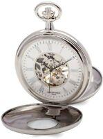 Charles Hubert Chrome Finish White Dial Pocket Watch XWA4908