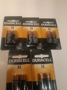 5 Packs Duracell N Batteries ** 10 Batteries Total ** New In Package ** 1.5V
