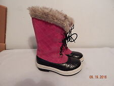 Girl's Youth Fall Winter Fashion Boots Size 2 CIRCO Pink Black