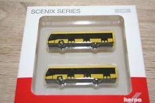 Herpa 558631 - 1/200 Scenix-Airport Bus Set - 2er Set-Neuf