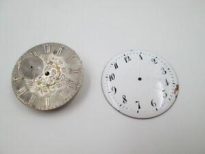 Máquina y esfera reloj bolsillo Robert Roshell y dial porcelana. Cuerda. 1905