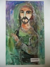 Cuba CHAMART Artist Charo Hand SIGNED Painting PIRATE SWIMING WITH FISH oooo PN