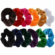 12 Pack Hair Scrunchies Velvet Scrunchy Bobbles Elastic Hair Bands, 12 Colo S7R6