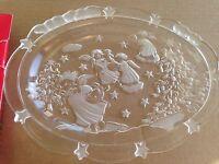 """MIKASA 9 1/4"""" SWEET DISH 'HOLIDAY LIGHTS' crystal dish"""