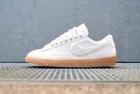 NIKE WOMEN BLAZER LOW SD WHITE SUEDE SOFT LEATHER MAX SUPERSTAR RUNNING WALKING