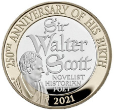 2021 Sir Walter Scott £2 Brilliant Uncirculated Coin trusted seller