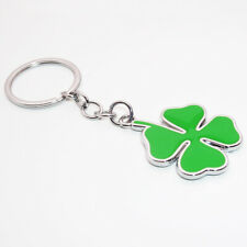 Quadrifoglio Portafortuna Clover Car Keychain Ring Decoration Gift Emblem Lucky