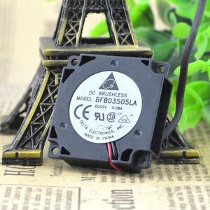 1pc Delta BFB03505LA 3.5CM 5V 0.08A double ball mute turbo cooling fan