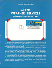 #UX57 5c United States Weather Services Souvenir Page Flat w/FDC - Very Scarce