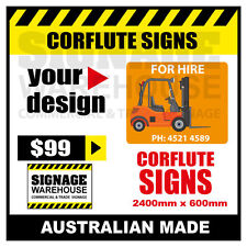 Custom Corflute Sign - Corflute 2400mm x 600mm - by Signage Warehouse