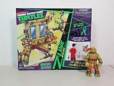 TMNT Z-LINE NINJAS WINDOW WIPEOUT PLAYSET COMPLETE + MIKEY ACTION FIGURE