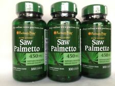 3 Puritan's Pride Saw Palmetto 450mg **Great for Men Urinary Health* Made In USA
