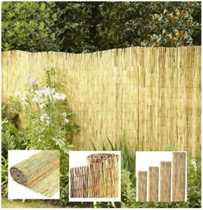 Large Garden Reed Fence Screening Roll Ideal Addition to Outdoor Garden- 1x4m