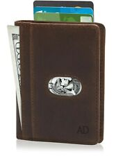 Real Leather Slim Bifold Wallets For Men W/ Pull Strap RFID Blocking Mens Wallet