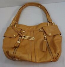 B. Makowsky Glove Leather Pocket Shopper, Goldish Tan, EUC