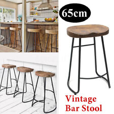 65cm Vintage Tractor Bar Stool Retro Barstool Industrial Dining Chair Seat Wood