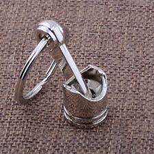 Keyring Keyfob Auto Car Vehicle Engine Metal Piston Model Alloy Keychains Silver