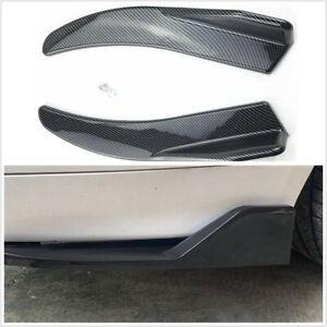 1 Pair Car Side Skirts Rear Bumper Spoiler Diffuser Rear Lip 44CM Polyurethane