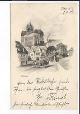DIEZ a.L. << Schloss m. Planwagen  >>  s/w Kunst-AK 1908!!!!
