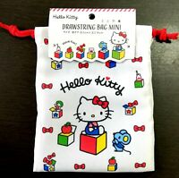 SANRIO Hello Kitty Drawstring Bag mini Pouch gift present Box L18.5cm x W14.0cm
