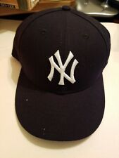 New York Yankees hat cap  59 Fifty New Era On Field fitted  7 5/8 navy blue