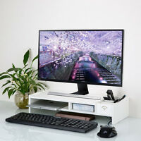 Home Office WPC Desk PC Computer Monitor LCD TV Stand Riser Keyboard Shelf Rack