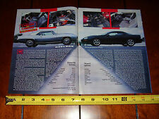1999 CAMARO LS1 SS vs. 1969 L78 SS - ORIGINAL ARTICLE