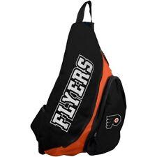 More details for philadelphia flyers sling backpack, orange & black