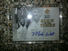 2012-13 spa basketball Mark West sign of the times auto