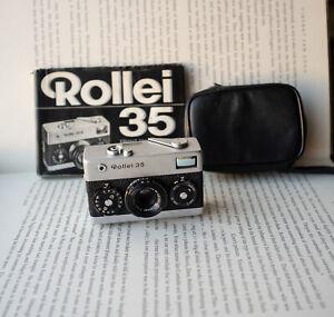 Rollei 35 Film Camera Tessar 40mm f3.5 + Case + Manual