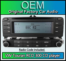 VW Touran CD player radio, RCD 300 car stereo with radio code, Touran 2003 ONLY